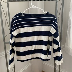 Blue and White Stripped Top